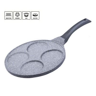 Frying pan for pancakes 26 cm Gray Granite