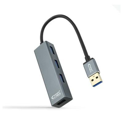 Hub USB Tipo-A Nanocable para 4x USB 3.0 Cinzento (10.16.4402)