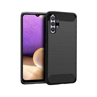 Capa Silicone Forcell Carbon Samsung Galaxy A32 5G A326 Preta