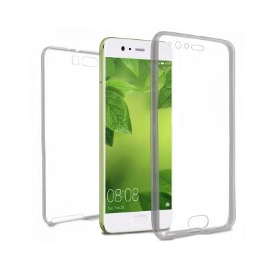 Silicone Cover Frente e Verso Huawei P10 Plus Transparent