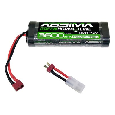 Battery Absima GreenHorn NiMH Stick Pack 7.2V 3600mAh (4100011)