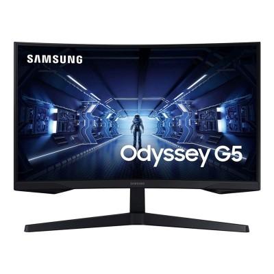 """Monitor Gaming Samsung Odyssey G5 27"""" WQHD 144Hz Preto (LC27G55TQWR)"""