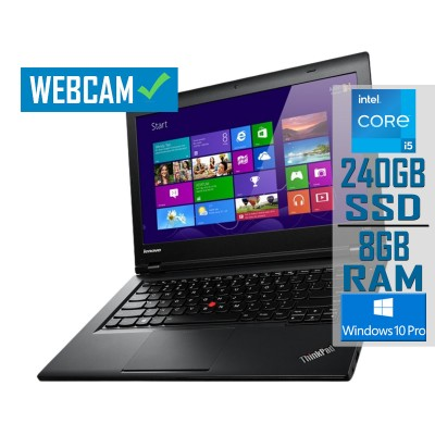 "Laptop Lenovo ThinkPad L440 14"" i5-4300M SSD 240GB/8GB Refurbished"