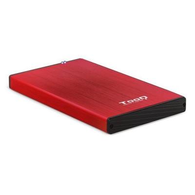 """Caja Externa Tooq TQE-2527 2.5"""" USB 3.1 Roja"""