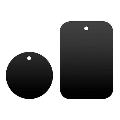 2 Placas Metal c/Adesivo para Suportes Magnéticos