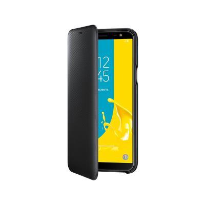 Funda Flip Wallet Original Samsung J6 2018 Negro