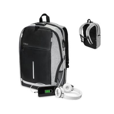 "Backpack Subblim Business Lock 16"" Anti-theft w/ USB Port Grey"