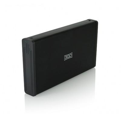 """HDD/SSD Enclosure 3GO HDD35BK312 3.5"""" USB 3.0 Black"""