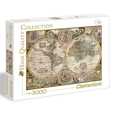 Puzzle Clementoni 3000 Peças Mapa Antigo