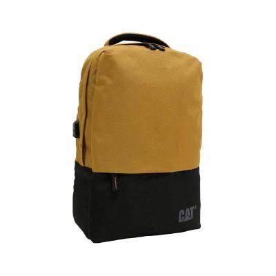 Mochila Cat Universo c/ Porta USB Preta/Amarela