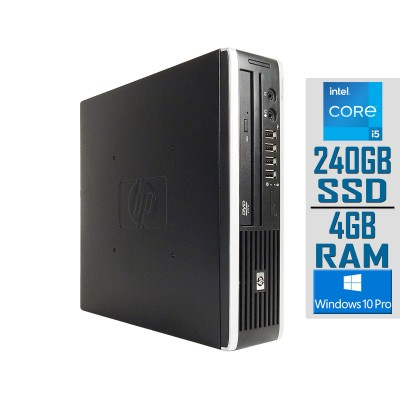 Torre HP Compaq 8200 Elite USDT i5-2400S SSD 240GB/4GB Recondicionado
