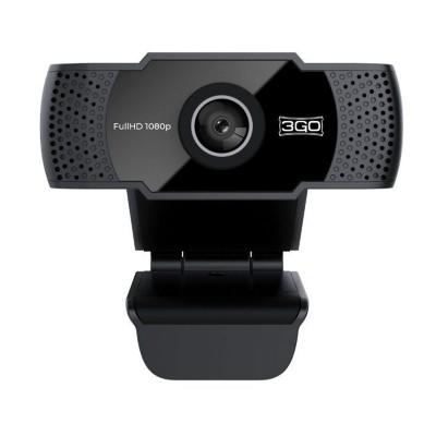Webcam 3GO ViewPlus Full HD w/ Microphone Black (WC1080P21)