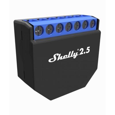 Comutador Sem Fios Shelly 2.5 Preto