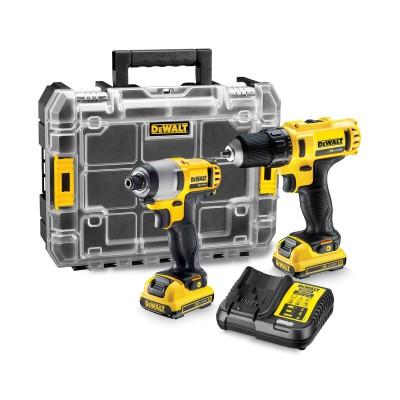 Screwdriver Kit DeWALT DCK211D2T Black/Yellow