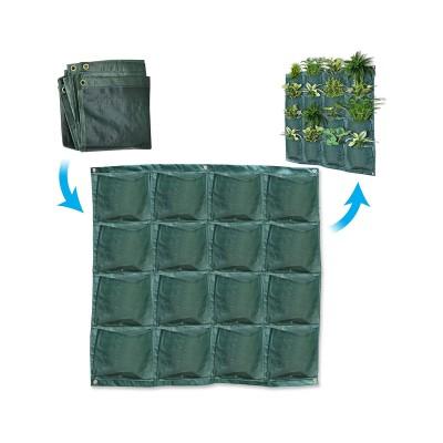 Sacos de Plantação Parede 16 Bolsos (4 Linhas)