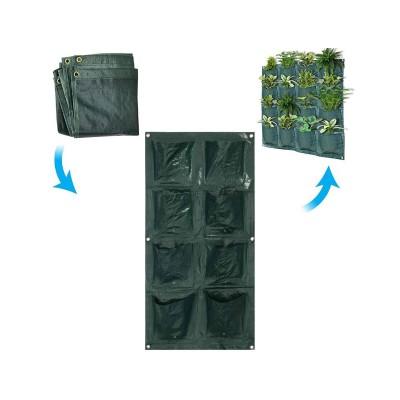 Sacos de Plantação Parede (8 Bolsos) (2 Linhas)