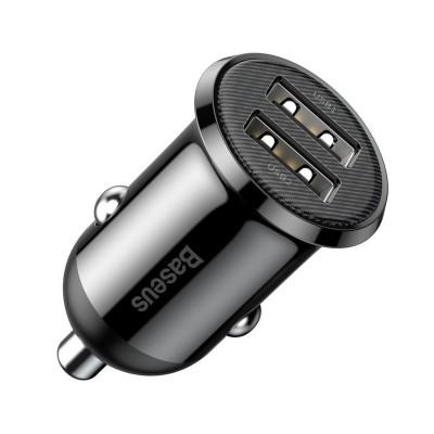 Lighter Charger Baseus Grain Pro 2 USB 4.8A Black