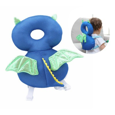 Child Head Protector - Dragon Blue