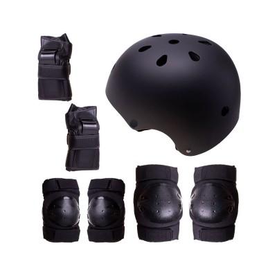Conjunto de Proteção p/Patins, Skate, Bicicleta Tamanho L Preto