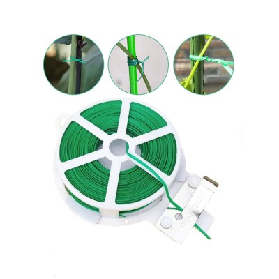 Garden Wire with Cutter 30 m Green