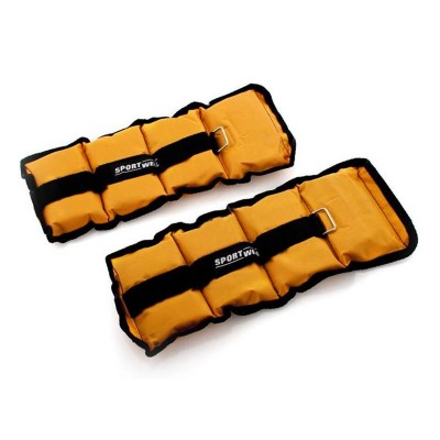 Ankle and Wrist Weights Set 2x 1kg Orange/Black