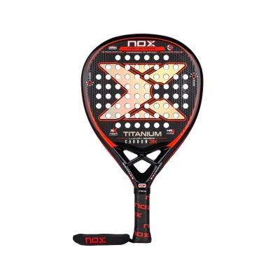 Padel Racket NoxSport Titanium Carbon 3K Luxury Series Red