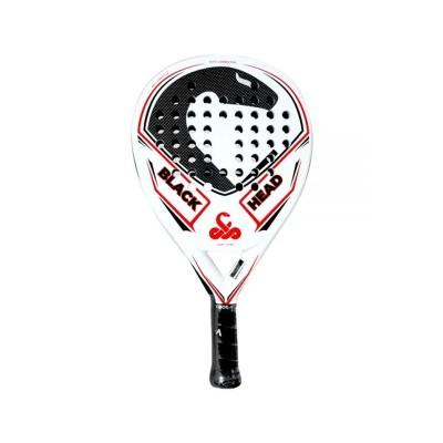 Padel Racket Vibor-a BlackHead Carbon White/Red