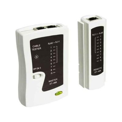 Testador Cabos de Rede WP RJ11/RJ12/RJ45/BNC Branco
