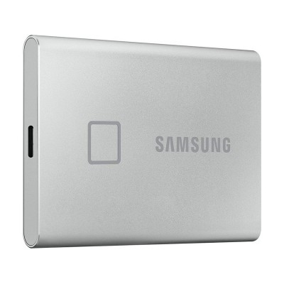 External Hard Drive Samsung Portable T7 Touch SSD 500GB USB 3.2 Silver