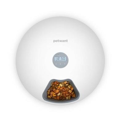 Automatic Food Dispenser PetWant Smart F6 6 Partitions White