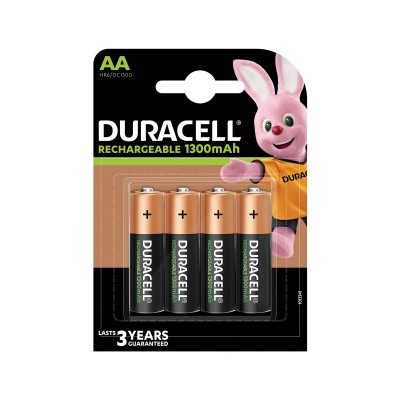 Duracell Rechargeable Stay Charged AA Pack 4 (HR6)