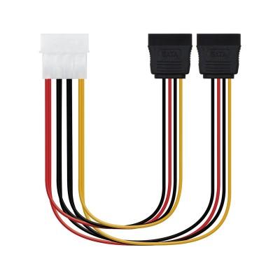 Power Cable Nanocable Molex 4-Pin to 2x SATA 20 cm