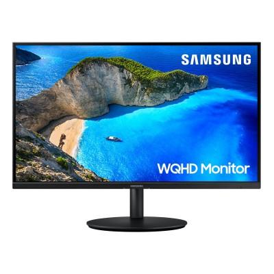"""Monitor Samsung 27"""" IPS QHD 75 Hz Preto (LF27T700QQU)"""