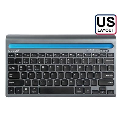Wireless Keyboard Delux K2201V Dual Mode Bluetooth/Wireless Black
