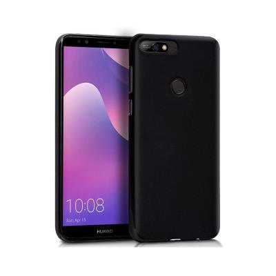 Funda Silicona Huawei Y7 2018 / Honor 7C Negro