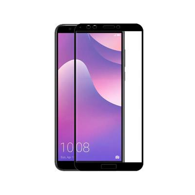 HUAWEI Y7 2018/HONOR 7C 3D BLACK TEMPERED GLASS FILM