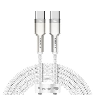 Cabo Dados Baseus Cafule USB-C para USB-C 2m Branco