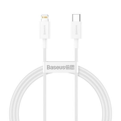 Data Cable Baseus USB-C for Lightning 1m White