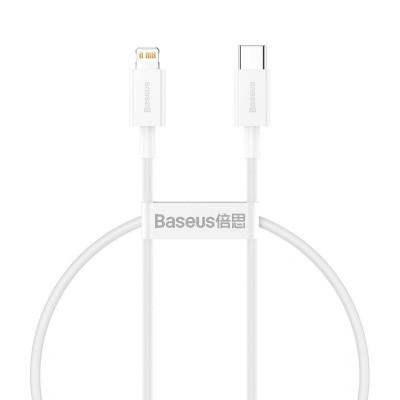Data Cable Baseus USB-C for Lightning 0.25m White