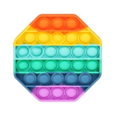 Octogonal Bubble Sensory Toy Pop Bubbles Multicor
