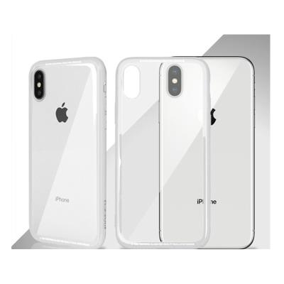 Funda iPhone X Okkes Super Slim Transparente/Blanca