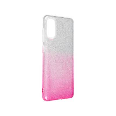 Silicone Cover Forcell Shining Samsung Galaxy A71 A715 Pink