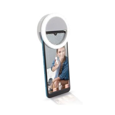 Ring Light for Smartphone Hispanica HE B-393 Influencer White