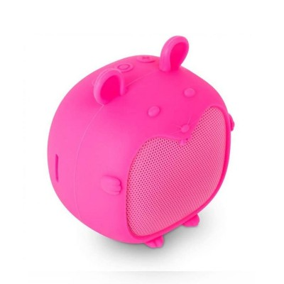 Coluna Bluetooth SPC Sound Pups Mouse Rosa