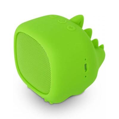 Coluna Bluetooth SPC Sound Pups Dino Verde
