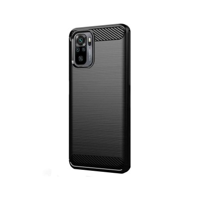 Silicone Cover Forcell Carbon Xiaomi Redmi Note 10/10S Black