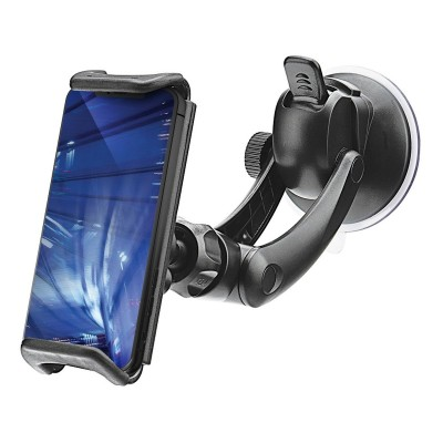 Mobile Phone Holder w/Suction Cup Blue Star Black