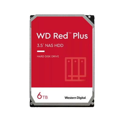 """Hard drive Western Digital Red Plus 6TB 3.5"""" 5400RPM 128MB (WD60EFZX)"""