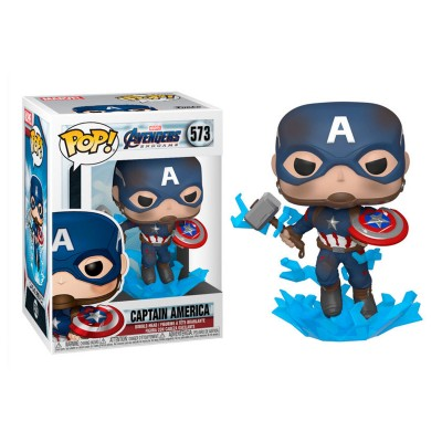 Funko Pop Avengers Endgame Capitan America with Broken Shield & Mjolnir