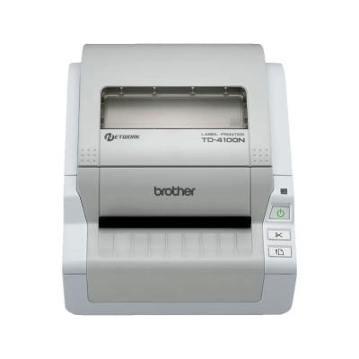 Impressora de Etiquetas Térmica Brother TD4100N 51mm USB/RJ45/RS232 Cinzenta